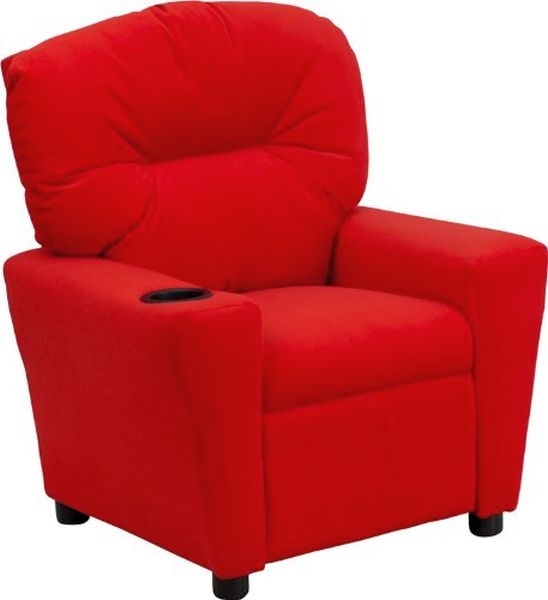 Flash Furniture Red Microfiber Kids ReclinerBT-7950-KID-MIC-RED-GG F-BT-7950-KID-MIC-RED-GG
