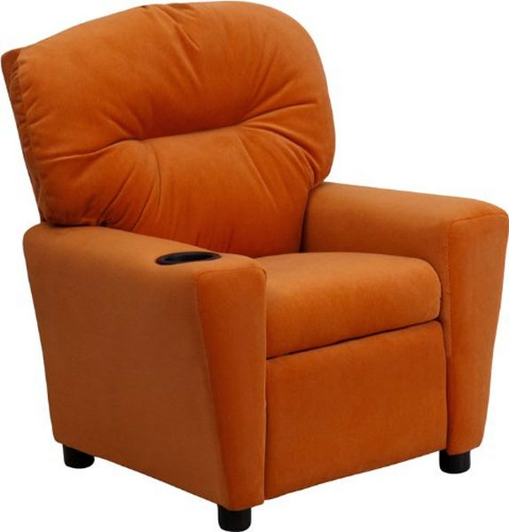 Flash Furniture Orange Vinyl Kids ReclinerBT-7950-KID-ORANGE-GG F-BT-7950-KID-ORANGE-GG