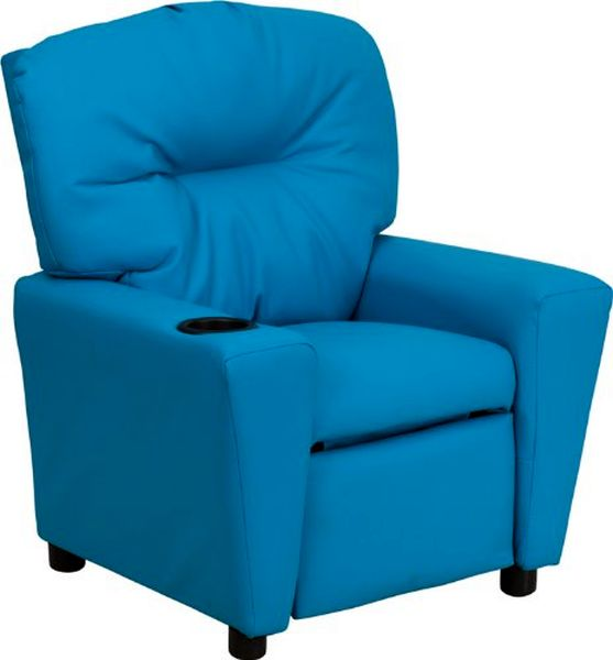 Flash Furniture Turquoise Vinyl Kids ReclinerBT-7950-KID-TURQ-GG F-BT-7950-KID-TURQ-GG