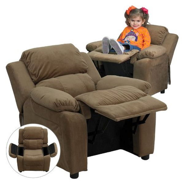 Flash Furniture Paded Brown Microfiber ReclinerBT-7985-KID-MIC-BRN-GG F-BT-7985-KID-MIC-BRN-GG