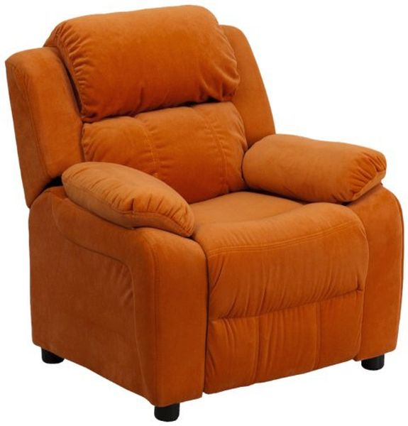 Flash Furniture Deluxe Padded Orange ReclinerBT-7985-KID-MIC-ORG-GG F-BT-7985-KID-MIC-ORG-GG