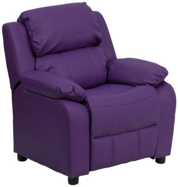 Flash Furniture Purple Vinyl Kids Recliner w/ArmsBT-7985-KID-PUR-GG F-BT-7985-KID-PUR-GG