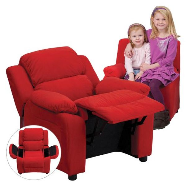 Flash Furniture Red Vinyl Kids Recliner w/ ArmsBT-7985-KID-RED-GG F-BT-7985-KID-RED-GG