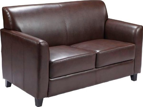 Flash Furniture HERCULES Envoy Black Leather Love SeatBT-827-2-BN-GG