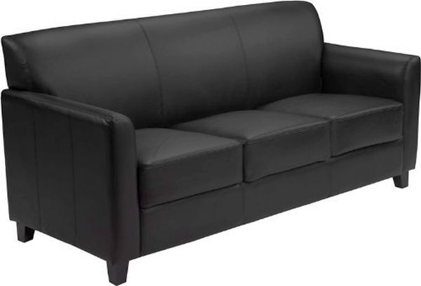 Flash Furniture HERCULES Diplomat Brown Leather SofaBT-827-3-BK-GG