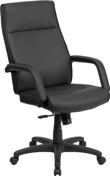 Flash Furniture High Back Black Leather Office ChairBT-90033H-BK-GG