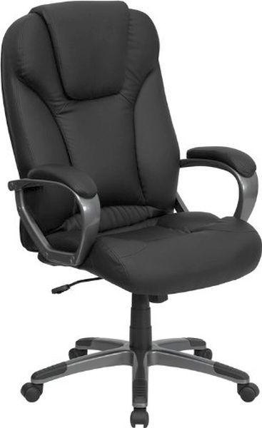Flash Furniture High Back Black Leather Office ChairBT-9066-BK-GG