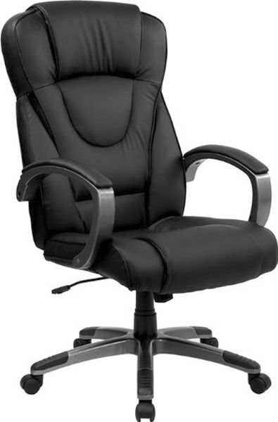 Flash Furniture High Back Black Leather Office ChairBT-9069-BK-GG