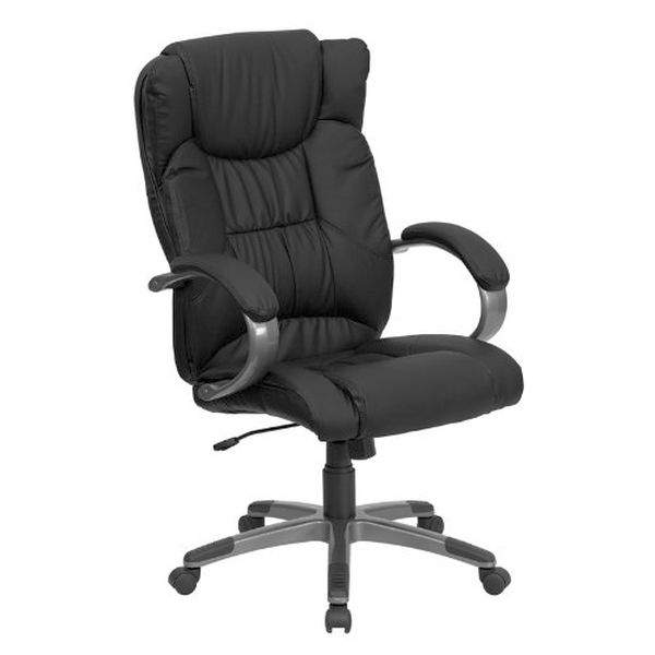 Flash Furniture High Back Black Leather Office ChairBT-9088-BK-GG