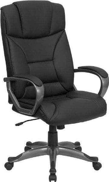 Flash Furniture High Back Black Leather Office ChairBT-9177-BK-GG