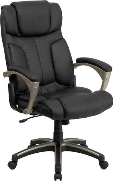 Flash Furniture High Back Massaging Black Leather ChairBT-9875H-GG