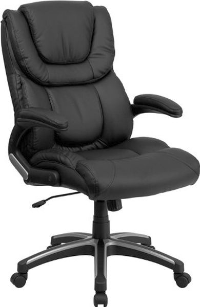 Flash Furniture High Back Black Leather Executive ChairBT-9896H-GG