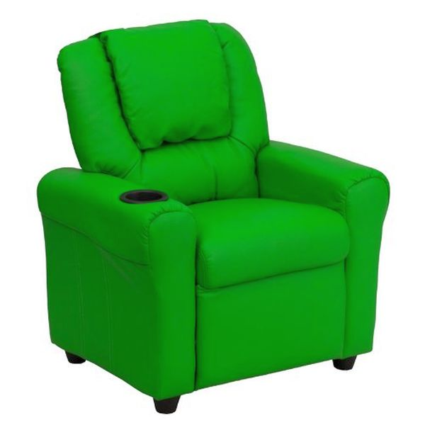 Flash Furniture Green Vinyl Kids Recliner & HeadrestDG-ULT-KID-GRN-GG F-DG-ULT-KID-GRN-GG