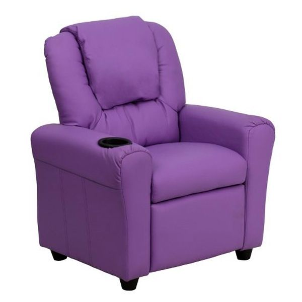 Flash Furniture Lavender Vinyl Kids Recliner & HeadrstDG-ULT-KID-LAV-GG F-DG-ULT-KID-LAV-GG