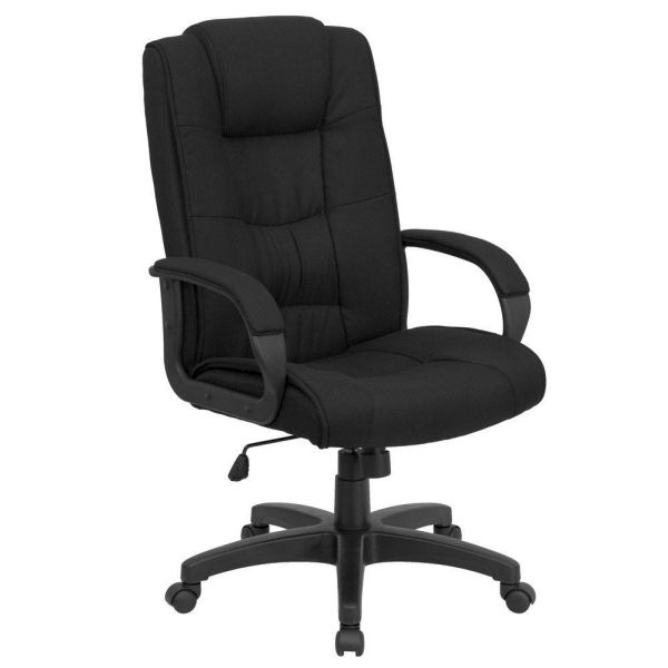 Flash Furniture High Back Black Swivel Office ChairGO-5301B-BK-GG