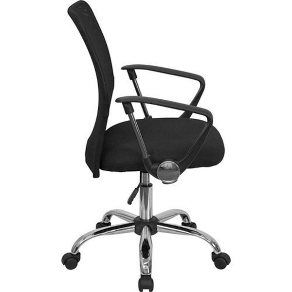Flash Furniture Mid-Back Black Mesh Computer ChairGO-6057-GG