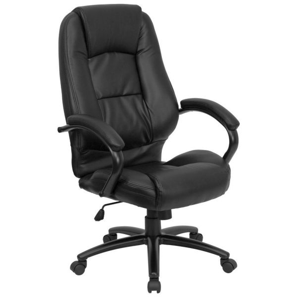 Flash Furniture High Back Black Leather Executive ChairGO-710-BK-GG