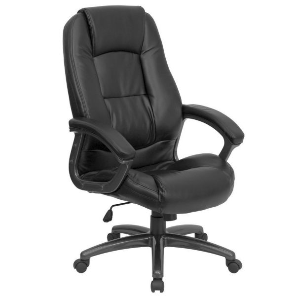 Flash Furniture High Back Black Leather Office ChairGO-7145-BK-GG