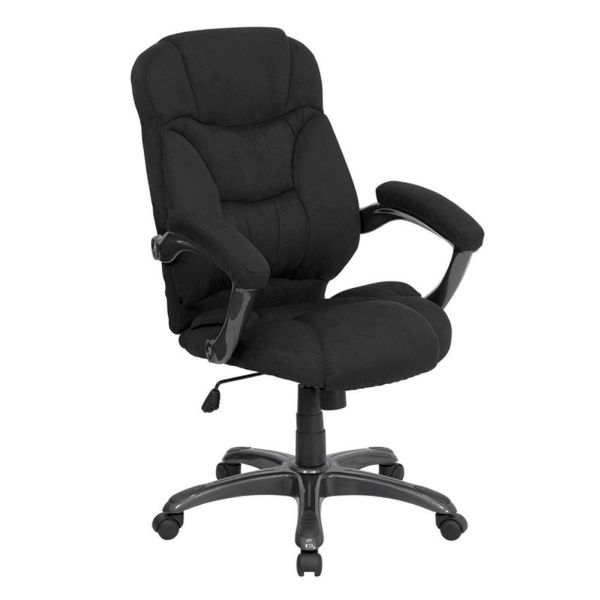 Flash Furniture HiBack Black Upholstered Leather ChairGO-725-BK-GG F-GO-725-BK-GG