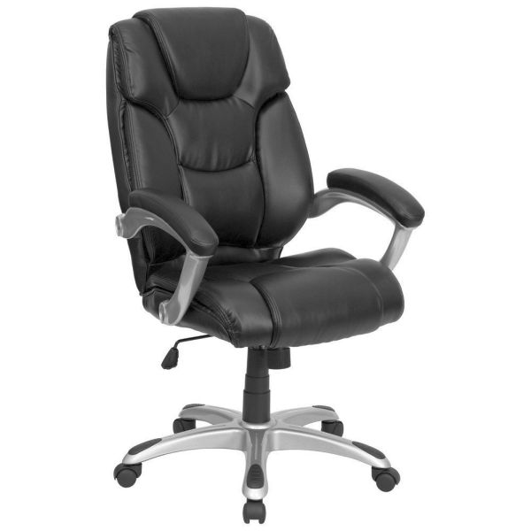 Flash Furniture Mid-Back Black Plastic Swivel ChairGO-931H-MID-BK-GG