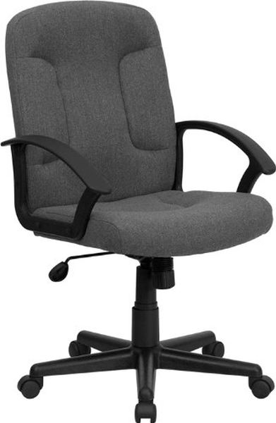 Flash Furniture Mid-Back Gray Fabric Executive ChairGO-ST-6-GY-GG