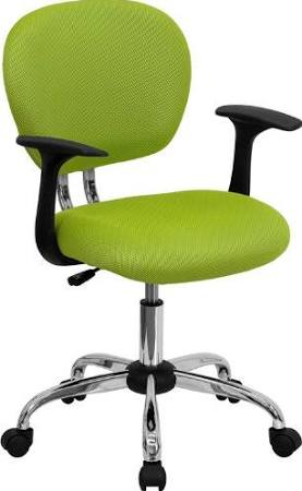 Flash Furniture Mid-Back Apple Green Task ChairH-2376-F-GN-ARMS-GG F-H-2376-F-GN-ARMS-GG