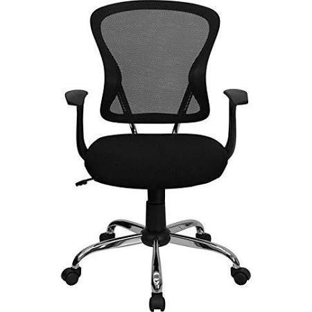 Flash Furniture Mid-Back Black Mesh Office ChairH-8369F-BLK-GG