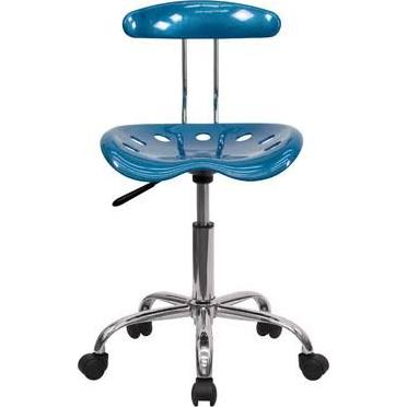 Flash Furniture Blue & Chrome Computer ChairLF-214-BRIGHTBLUE-GG F-LF-214-BRIGHTBLUE-GG