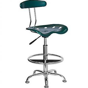 Flash Furniture Green and Chrome Computer Task ChairLF-214-GREEN-GG F-LF-214-GREEN-GG