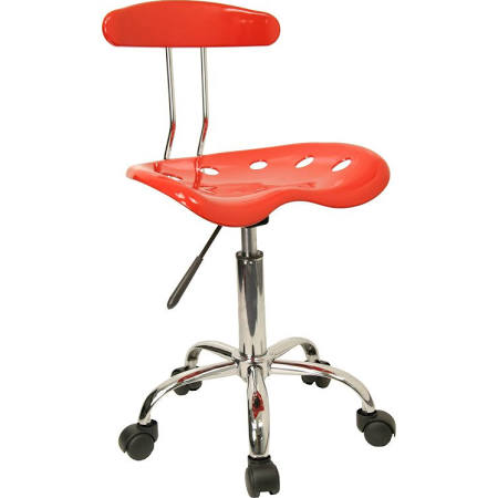 Flash Furniture Red and Chrome Computer Task ChairLF-214-RED-GG F-LF-214-RED-GG