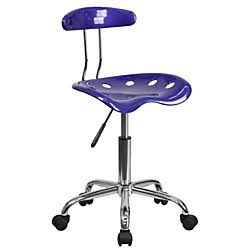 Flash Furniture Violet and Chrome Computer Task ChairLF-214-VIOLET-GG F-LF-214-VIOLET-GG