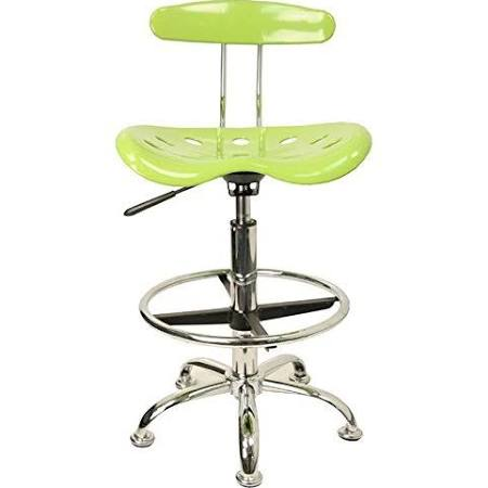 Flash Furniture Apple Green and Chrome StoolLF-215-APPLEGREEN-GG F-LF-215-APPLEGREEN-GG