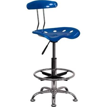 Flash Furniture Bright Blue and Chrome StoolLF-215-BRIGHTBLUE-GG F-LF-215-BRIGHTBLUE-GG