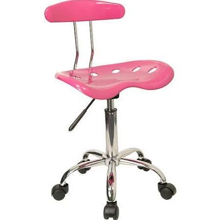 Flash Furniture Pnk & Chrme Drafting Stool Tractor SeatLF-215-PINK-GG F-LF-215-PINK-GG