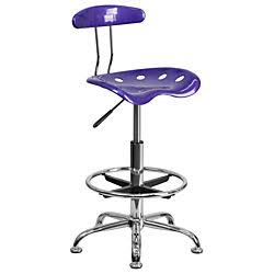 Flash Furniture Vibrant Violet & Chrome Drafting StoolLF-215-VIOLET-GG F-LF-215-VIOLET-GG