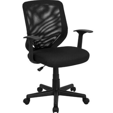 Flash Furniture Mid-Back Black Mesh Office ChairLF-W-95A-BK-GG