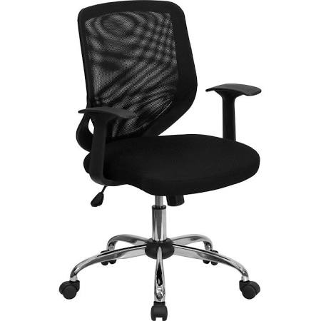 Flash Furniture Mid-Back Black Mesh Office ChairLF-W95-MESH-BK-GG