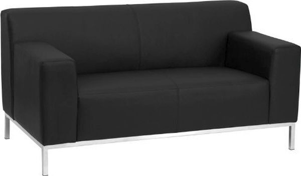 Flash Furniture HERCULES Black Love SeatZB-DEFINITY-8009-LS-BK-GG