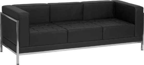 Flash Furniture Lacey Series Black Sofa w/FrameZB-IMAG-SOFA-GG