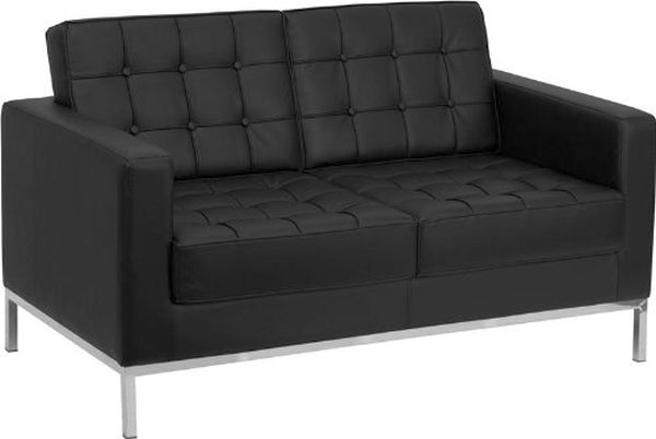 Flash Furniture HERCULES Black Love SeatZB-LACEY-831-2-LS-BK-GG