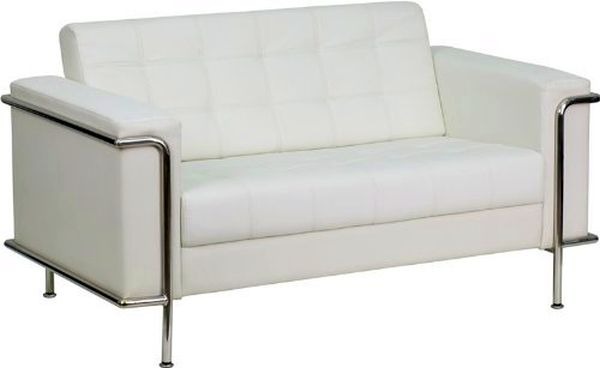 Flash Furniture Regal Black Love Seat w/FrameZB-LESLEY-8090-LS-WH-GG