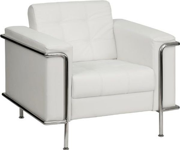Flash Furniture White Leather Reception ChairZB-LESLEY-8090-SET-WH-GG