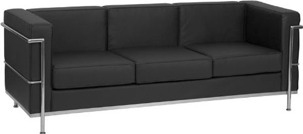 Flash Furniture HERCULES Regal Black SofaZB-REGAL-810-3-SOFA-BK-GG