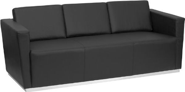 Flash Furniture HERCULES Black Leather SofaZB-TRINITY-8094-SOFA-BK-GG