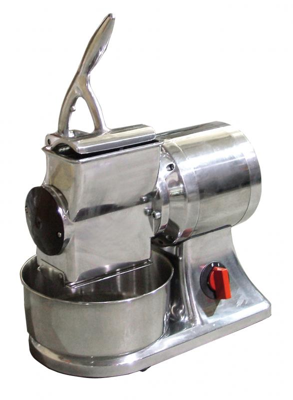 Omcan (FMA) Cheese Grater, electric, cast iron grater drum, stainless steel basin & hopper, 1 HP
