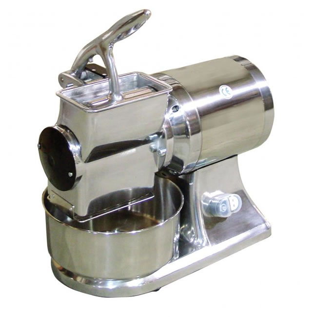 Omcan (FMA) Cheese Grater, electric, microswitch, stainless steel basin & hopper, 1-1/2 HP