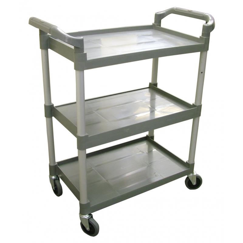 Omcan (FMA) 3-Tier Durable Plastic Bussing Cart