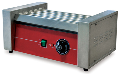 "Omcan (FMA) 'Hot Dog Grill, roller type, (5) 14"" stainless steel rollers, adjustable thermostat, 150W, CE FMA-21478"