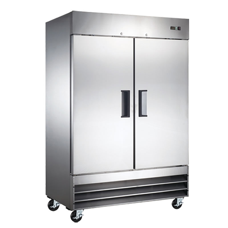 Omcan (FMA) 'Refrigerator, reach in, two-section, 46.5 cu. ft, 1/2 HP, 8.4 amps