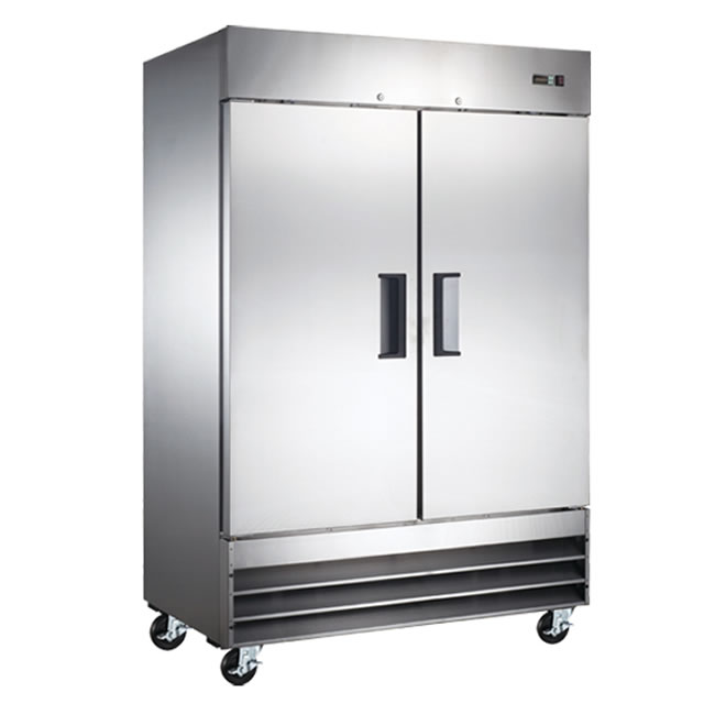 Omcan (FMA) 'Freezer, reach in, two-section, 46.5 cu. ft, 3/4 HP, 10.1 amps, CE, ETL, Energy Star